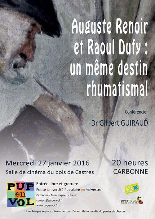 Auguste Renoir et Raoul Dufy : un même destin rhumatismal