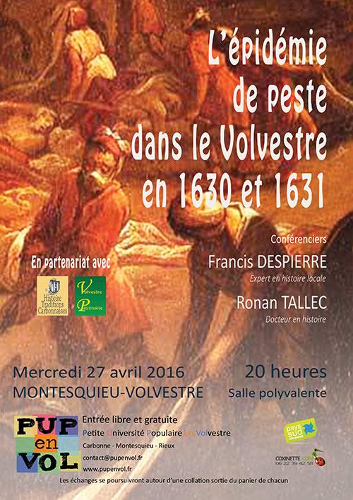 L'épidémie de peste dans le Volvestre en 1630 et 1631