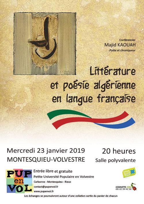 Littérature et poésie algérienne en langue française