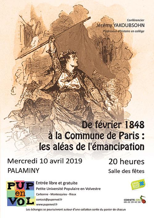 De février 1848 à la Commune de Paris : les aléas de l'émancipation