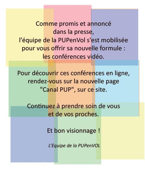 PUPenVOL - Déprogrammation des conférences
